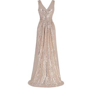Dresses & Skirts - Rose Gold Sequin dress - bridesmaid, prom, formal